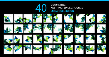 Mega collection of triangle shape backgrounds