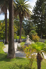 Garden of Villa Vraila - Achilleion - on Corfu islands.