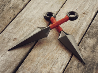 throw ninja weapons retro vintage style