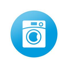 Etiqueta redonda lavadora