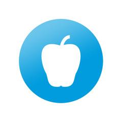 Etiqueta redonda manzana