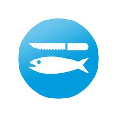 Etiqueta redonda pescaderia