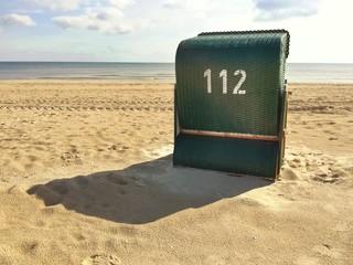 Strandkorb von hinten