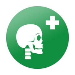 Etiqueta redonda traumatologia