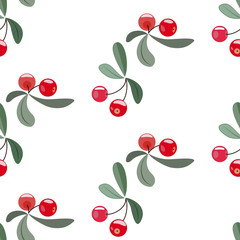 Red berry pattern
