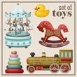 Set of vintage toys. - 67210480