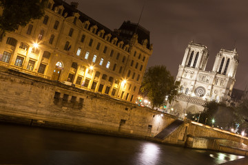 Notre Dame Cathedral by Night
