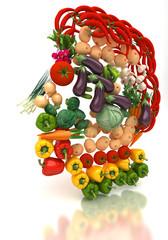 Arcimboldi - Volto Umano di verdure