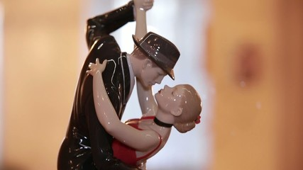 porcelain figurine of a dancing couple