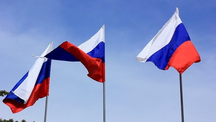 Russian Federation flag in the wind