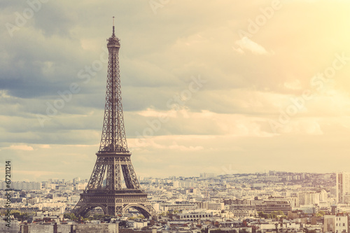 Canvas Europese Plekken Tour Eiffel in Paris
