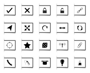 Bookmark design Icons