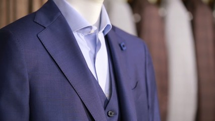 men's suit on a mannequin