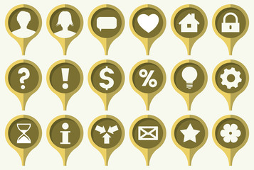 the set of common web icons