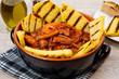 fish soup with grilled polenta on crock pot