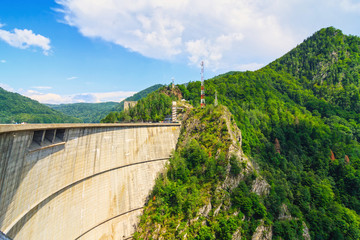 Vidraru dam, Fagaras mountains, Romania