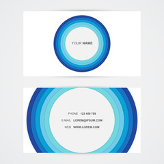 Business card, blue simple modern design