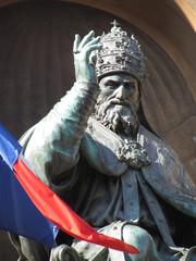 Italy, Emilia Romagna, Bologna, Gregorio XIII statue