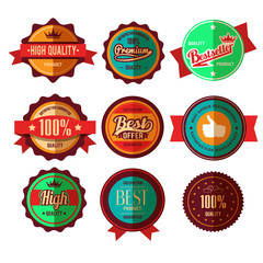 Retro Sale Badges