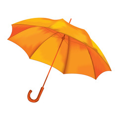 Umbrella on a white background. Vector illustration.