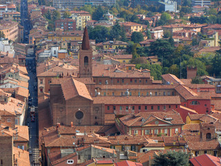 Italy, Emilia-Romagna, Bologna aerial view of the city