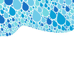 Rain drop background, blue design, vector illustration