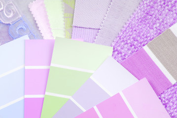 pink color design selection for interior