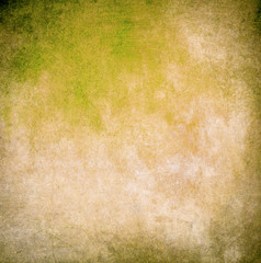 Yellow grunge paint wall background or texture