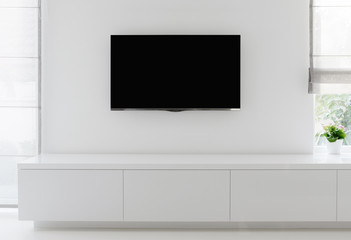 living room detail tv on wall