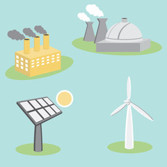 Utility Energy Company Icons
