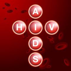 HIV AIDS Blood Cells