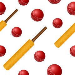Cricket ball bat seamless backgroung