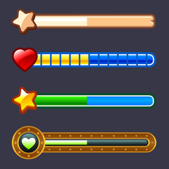 Energy progress game bar set