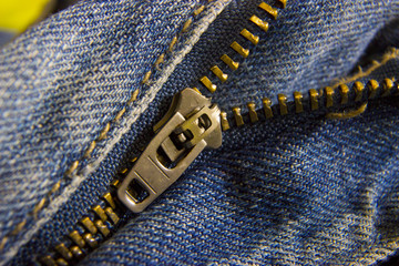 Zipper close up