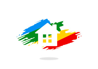 house paint vector logo