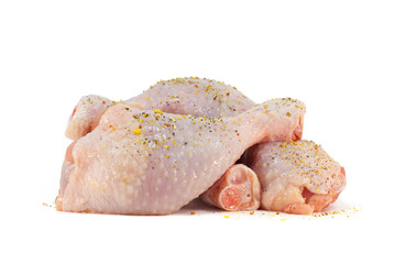 Fresh chicken meat with spices