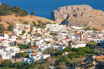 Panorama of Lindos. Rhodes, Greece.