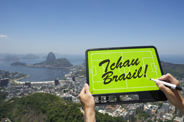 Brazil Goodbye Tchau Message Football Tactics Board
