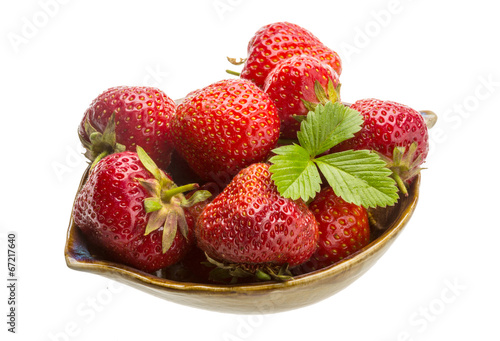 canvas print picture Strawberry in the bowl