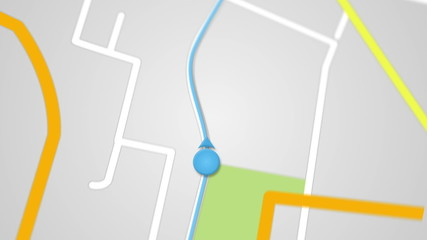 city map GPS navigation seamless loop