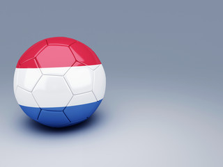 soccer ball with netherlands flag