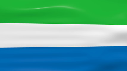 Waving Sierra Leone Flag, ready for seamless loop.