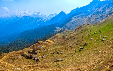 Trekking trails in Himalaya
