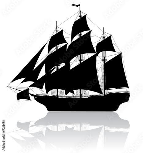 Black old ship - 67218698