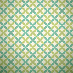 Green garden vector pattern. Abstract texture