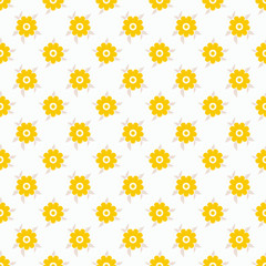 Light summer vector seamless pattern (tiling). Fond white