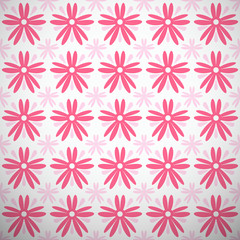 Light summer vector pattern (tiling). Fond pink and white colors