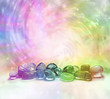 canvas print picture - Cosmic Healing Crystals