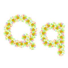 Flower letter Q