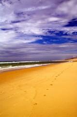Wolken, Strand und Wellen in Lacanau Ozean 2